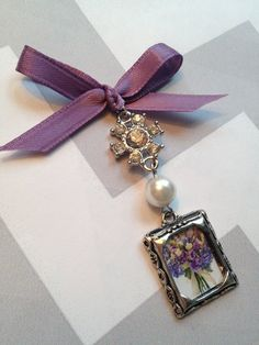 Wedding Bouquet Charm  Crystals and Pearl by YourCharmedWedding, $9.99