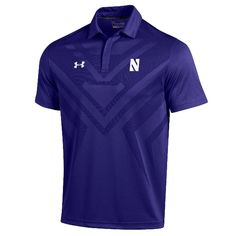 NORTHWESTERN® UNDER ARMOUR® PURPLE SIDELINE SCOUT POLO