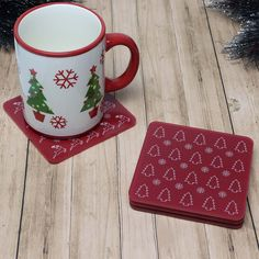 Round Snowflake Coaster Acrylic Christmas Mix /& Match Printed 4 Colours