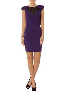 Kardashian purple mesh dress  #DPKK