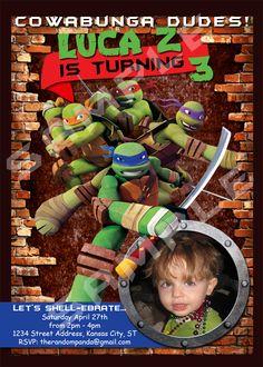 Teenage Mutant Ninja Turtle Invitation