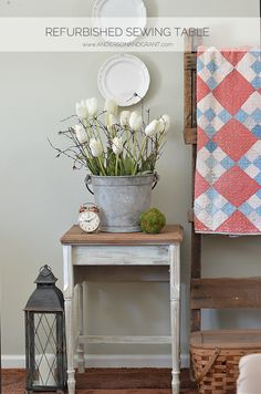 anderson + grant: Refurbished Sewing Machine Table Makeover