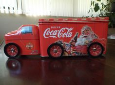 Coca Cola Collectible Semi Truck Tin Santa | eBay
