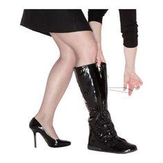 Women's PYSIS Overboots Posh Galosh Black PU