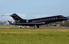 Bombardier BD-700 Global Express exterior,Owner Bill Gates... cost 45 million