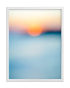 """Sunset Study"" - Art Print by Jessica Nugent in beautiful frame options and a variety of sizes."