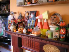 my halloween decor lots of makes from artful friends