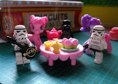 This is How we take Tea. Ponies and Stormtrooper Legos :)  #starwars #stormtroopers #lego
