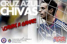 PREVIA: CRUZ AZUL VS CHIVAS || URGIDOS POR LA VICTORIA El estadio Azul será el escenario donde ambos equipos intentarán sumar sus primeros tres puntos. El partido se realizará este sábado en el Estadio Azul a las 17:00 horas. El silbante Roberto García dirigirá el partido.