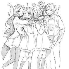 Koharu with Kasumi Sister