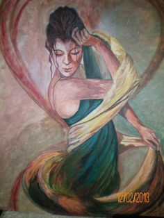 my painting 'the dancing lady'