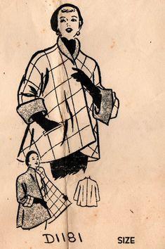 patterns for women 50 Style Dresses, Medieval, Pattern Recognition, Swing Coats, 50s Vintage, Vintage Sewing Patterns, Fashion History, Coats For Women, 1950s
