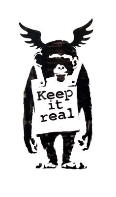 FLYING MONKEY Keep It Real BANKSY Unofficial by HotMonkeyGraphics