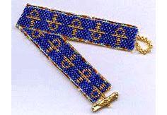 Ankhs Bracelet Pattern, Sova-Enterprises.com Beaded Bracelet Patterns, Beading Patterns, Beaded Bracelets, Carnelian, Free Items, Egyptian, Jewelery, Colours, Stitch