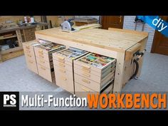 Plans to make a versatile workbench that will allow you to do all kinds of woodworking projects. Storage and straight rip cuts forever.