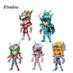 Elsadou 5pcs/set Saint Seiya Action Figures Myth Cloth Shiryu Shun Hyoga Jabu Seiya Dolls Model Toys For Children