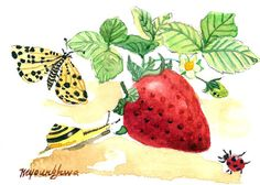 ACEO Limited Edition  Strawberry season by annalee377 on Etsy