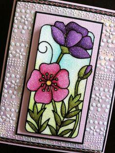 elizabeth craft designs | Cards by Elizabeth Craft Designs / Background for this card is a piece ...