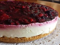 CHEESECAKE AI FRUTTI DI BOSCO SENZA COTTURA - No bake Mixed Berry Cheesecake - YouTube
