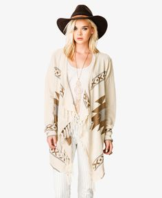 Fringed Ganado Cardigan #Forever21 #NewFrontier: KiziPop Best Fashion Collection - Dress Up Girls