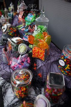 Halloween is all about the candy!  We should include a baby themed candy bar!  Guests can enjoy during the shower as well as taking treats home to enjoy later!