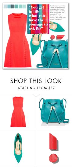 """Untitled #1055"" by samha ❤ liked on Polyvore featuring Kate Spade, Paul Andrew, Chanel and Oliver Gal Artist Co."