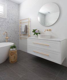 Add some mosaic magic to your bathroom with Beaumont Tiles ✨ 🏷️ Juli. - Add some mosaic magic to your bathroom with Beaumont Tiles ✨ 🏷️ Juli… Add some mosaic magic to your bathroom with Beaumont Tiles ✨ 🏷️ Julia and Sasha Bathroom Toilets, Bathroom Renos, Laundry In Bathroom, Bathroom Renovations, Small Bathroom, Modern Bathroom, Master Bathroom, Bathroom Vinyl, Bathroom Gray