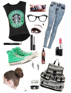 """""""Starbucks outfit!!!"""" by lucy-marlow ❤ liked on Polyvore"""