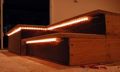Best way to secure rope light to carpeted riser lip? - AVS Forum