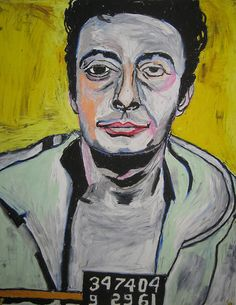 Lenny Bruce drawn by James Roux