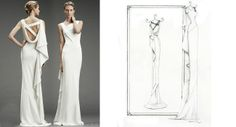 Nicole Miller Dress – Pencil   Pretty as a Picture. Gorgeous sketch of wedding dress by Ailbhe Ryan of Pretty as a Picture. #weddingdress #weddingdresssketch #beautifuldress #prettyasapicture #weddingdressportrait Special Wedding Gifts, Unique Wedding Gifts, Wedding Dress Sketches, Anniversary Present, Nicole Miller, Formal Dresses, Wedding Dresses, Beautiful Dresses, Pencil