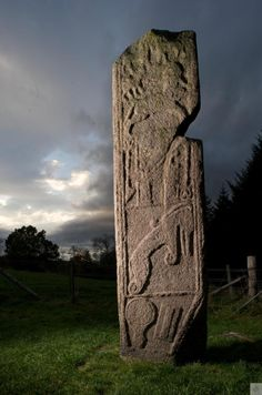 Maiden Stone, North & Grampian, a Pictish cross slab over tall. A Pictish symbol stone on The Brough of Birsay, Orkney, Scotland . Ancient Aliens, Ancient History, Cairns, France Culture, Scotland History, Rune Stones, Celtic Culture, Mystique, Celtic Art