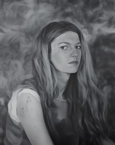 http://aniagubernat.com/gray-scale/ Ania Gubernat #painting #oil #canvas #portrait #grayscale