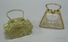 Two Vintage Lucite Handbags.