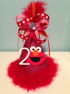 Elmo Birthday Party Hat Girl Boy by MonicaDawnDesigns on Etsy