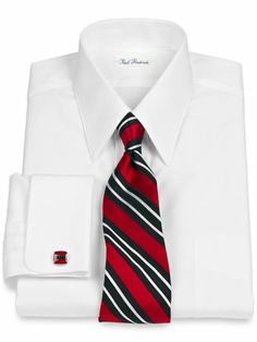 French cuff white collar and donald trump on pinterest for 2 ply cotton dress shirt