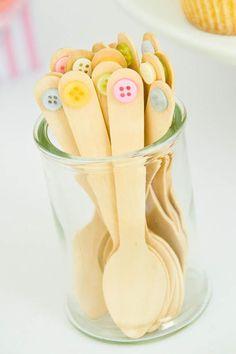 Cute as a Button Birthday Party Planning Ideas Cake Supplies Idea