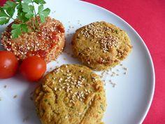 Hambúrgueres de grão e batata doce
