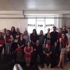 Our Londoners wore Nepalese colours today to raise money for The Om Hospital in Nepal. Well done team! #HelpforNepal