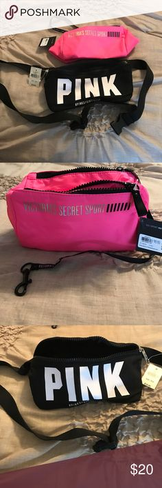 Small Victoria Secret Sport bags. Pink sport bag. Black fanny pack. Victoria's Secret Bags Cosmetic Bags & Cases