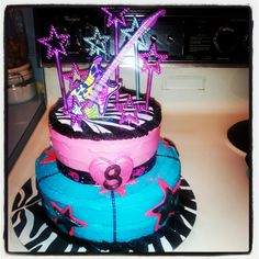 Rockstar birthday cake I made