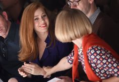 Pin for Later: Whoever's Next to Anna Wintour Has the Best Seat in the House Amy Adams . . . and they shared an excited moment.