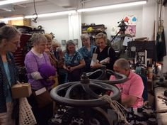 Visit to see fabric flowers being made at Schmalberg Flower Factory.