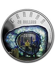 2016 CA Canada 1 oz Silver Proof $20 Star Trek: Edge of Forever 1 OZ Brilliant Uncirculated