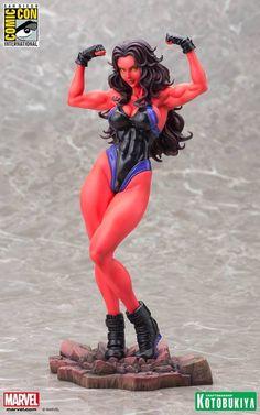 The Incredible Hulk - - Red She-Hulk - Bishoujo Statue - Kotobukiya Red She Hulk, Red Hulk, Marvel Universe, Marvel Dc, Marvel Comics, Toy Art, Anime Figures, Action Figures, Miss Hulk