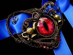 Alice Returns To Madness - Steampunk Gothic - Choker Necklace -  Red Eye Tea Pot Queen of Hearts  Cosplay Ribbons