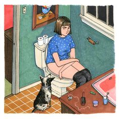 Les illustrations de Sally Nixon sont composées exclusivement de grosses feignasses sur leurs canap.