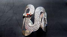 Brazalete de serpiente en 925 plata con detalles exquisitos