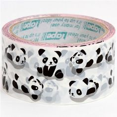 yo lo quiero!!  Deco Tape adhesive Stickers - Cute Panda Bear DTB8 CharmTape at Etsy
