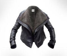 custom made leather/shearling jacket on etsy. kinda looks like helmut lang